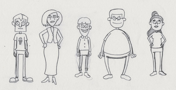 Characters sketch