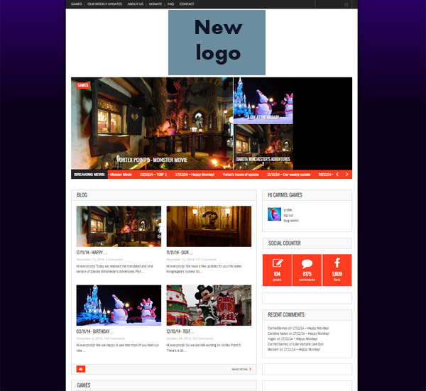 new site layout