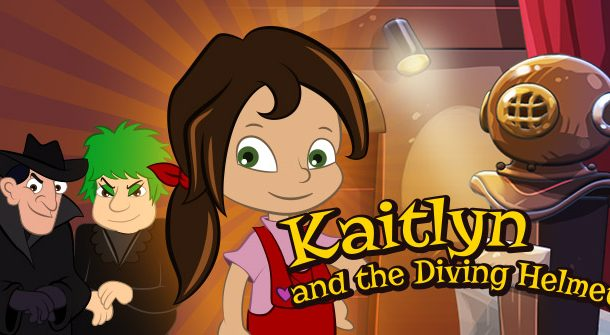 Kaitlyn and the Diving Helmet
